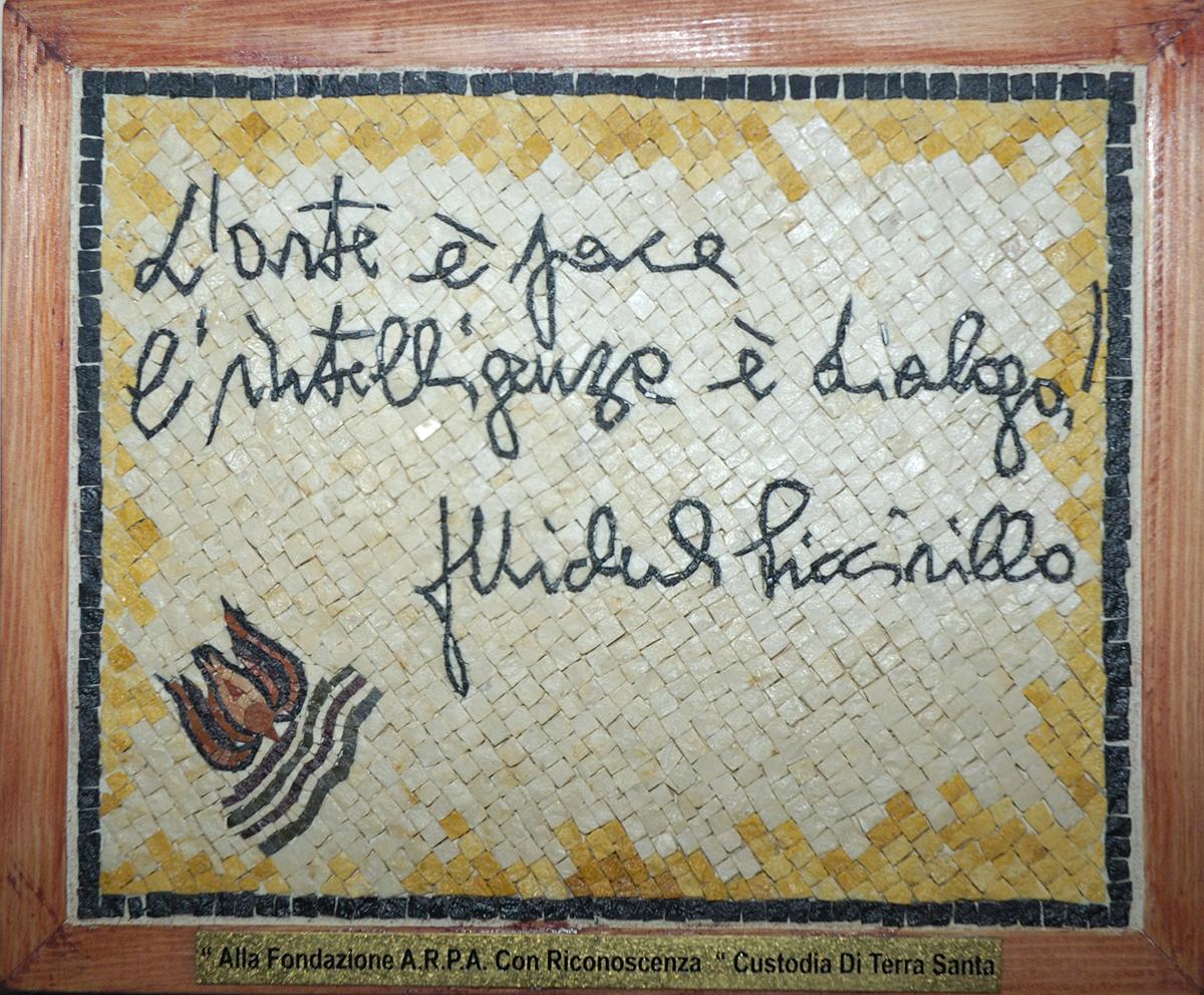 Mosaico donato al Prof. Franco Mosca