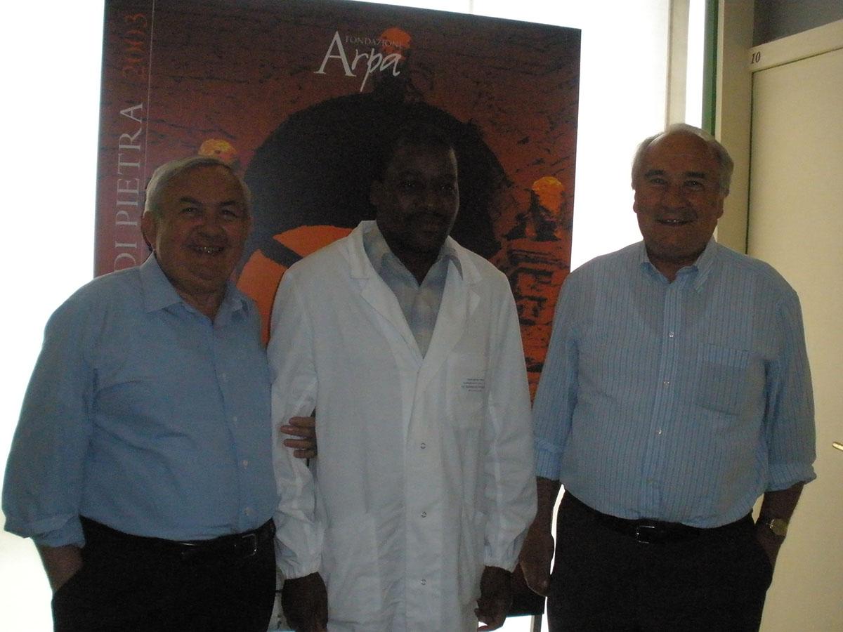 Il Prof. Franco Mosca, il Dr. Mario Jacobe ed il Prof. Mario Cervetto
