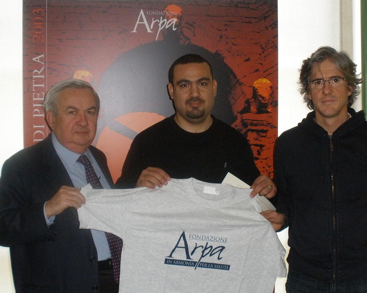 Da sin. il Prof. Franco Mosca, il Dr. Beshar, il Dr. Andrea Carobbi